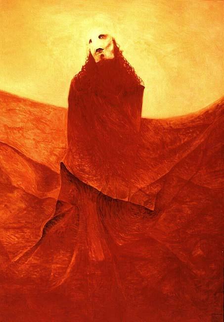 Krzysztof Krawiec - Sowa Pomaranczowa (Orange Owl), 2002.