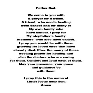 Christian Images In My Treasure Box: Prayer For Those Sick With Cancer