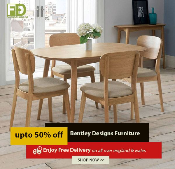Designsbest Sale Bentley Designs Oslo Oak 6 8 Extension Dining Table With 6 Chairs Furnitu Fabric Dining Chairs Dining Table Modern Furniture Living Room