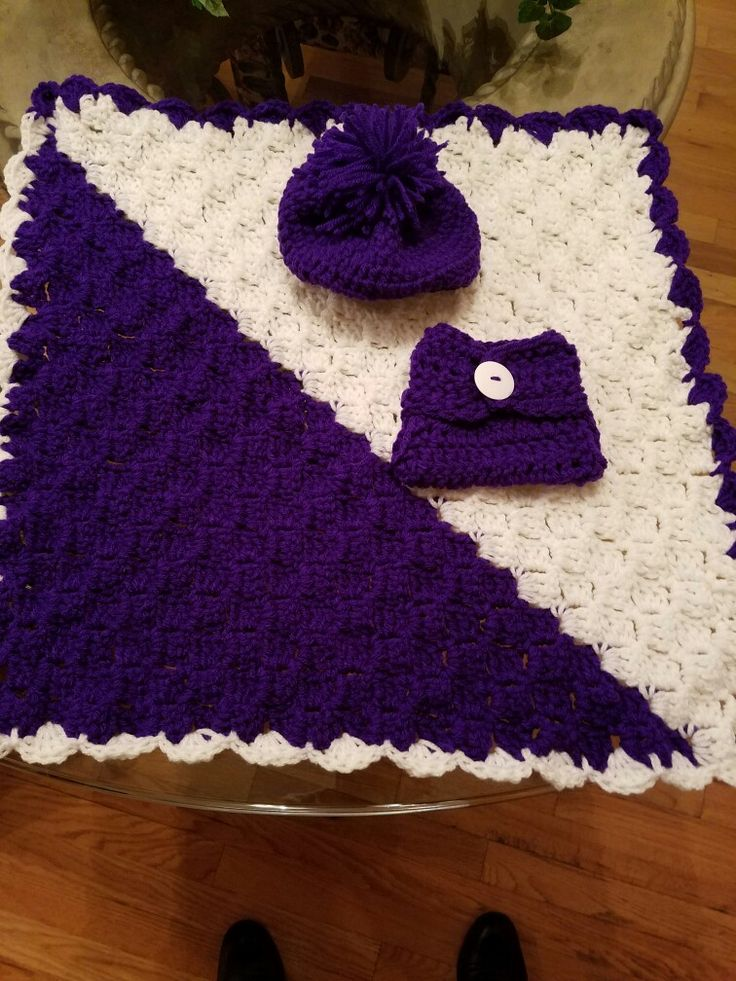 Doll set blanket beanie and diaper cover