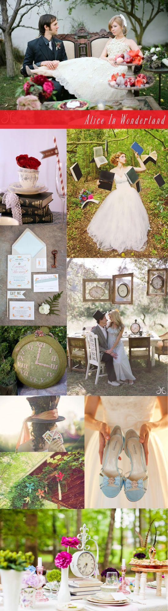 Alice in Wonderland wedding inspiration board
