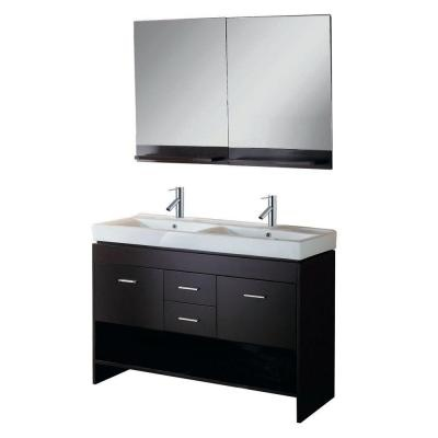 2340 48 Quot Gloria Double Basin Vanity In Espresso With