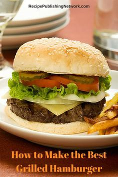 No two hamburgers are alike and that applies more to home-cooked hamburgers than other kinds. You have plenty of options when making hamburgers. You can choose different kinds of meat, different seasonings, different sauces, bun types and more. The following recipe shows you how to make tasty and succulent hamburgers and many people would agree this is the best grilled hamburger recipe.