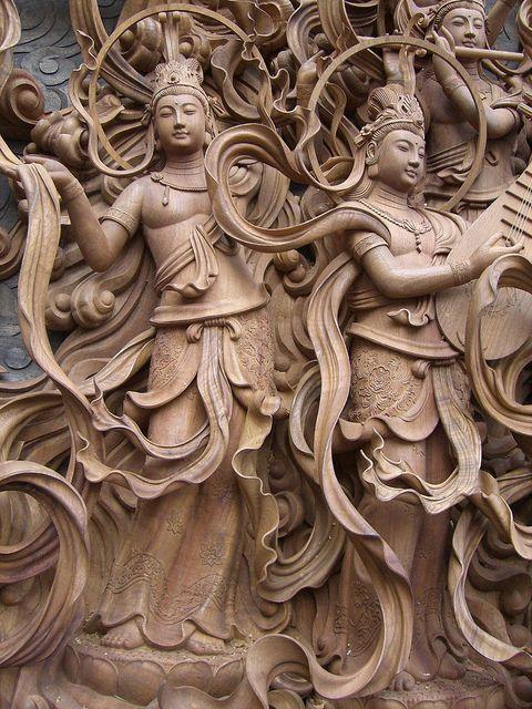 「菩薩(天女飛天)~彫刻 Sculpture」 念佛宗(念仏宗)無量寿寺 佛教之王堂 社寺仏教美術 nenbutsushu002 | Flickr…