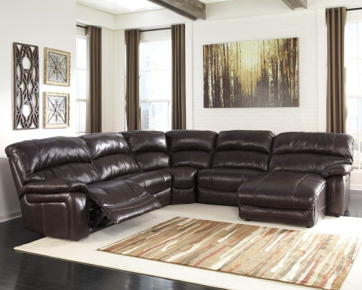 Get Your Damacio   Dark Brown 5 Pc. RAF Power Chaise Sectional At Railway  Freight Furniture, Albany GA Furniture Store.
