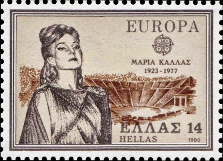 1980 EUROPA Μαρία Κάλας (1923-1977)