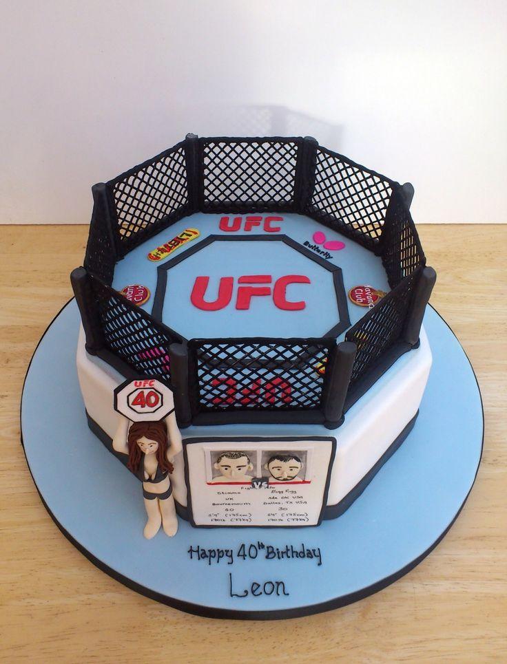 Novelty Birthday Cakes | ufc themed novelty birthday cake