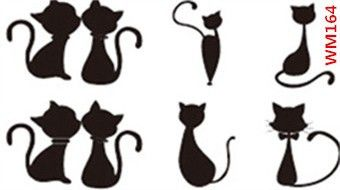 (Min order $0.5) Temporary Tattoo For Man Woman Waterproof Stickers makeup maquiagem make up lovely cat lover Tattoo