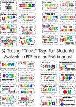 TESTING DESK TAGS FOR STUDENTS + ENCOURAGEMENT NOTE IDEA FOR PARENTS! - TeachersPayTeachers.com