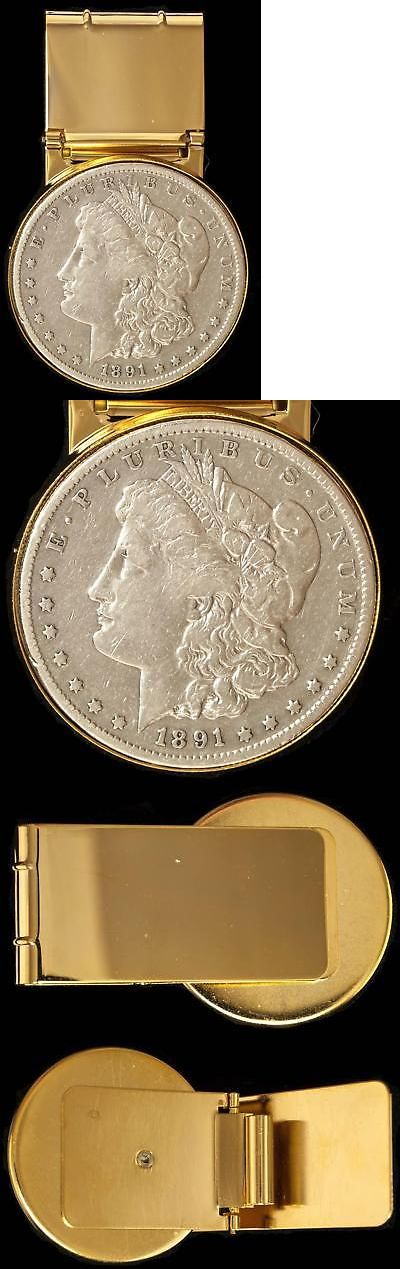 """Money Clips 60120: 1891 Morgan Silver Dollar Money Clip Western 2 1 2"""" X 1 1 2"""" New Old Stock -> BUY IT NOW ONLY: $55 on eBay!"""