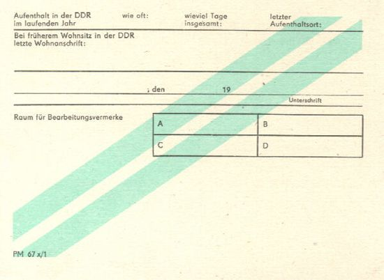 Postal forms from the DDR. Nice minty stripe.