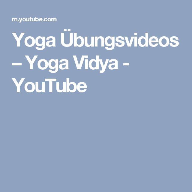 Yoga Übungsvideos – Yoga Vidya - YouTube