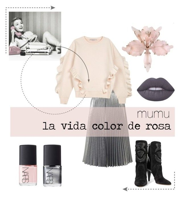"""mumu la vida color de rosa 4"" by onmymumu on Polyvore featuring moda, Miss Selfridge, STELLA McCARTNEY, Isabel Marant, Lime Crime, NARS Cosmetics y country"