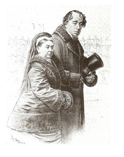 Queen Victoria with Prime Minister, Benjamin Disraeli
