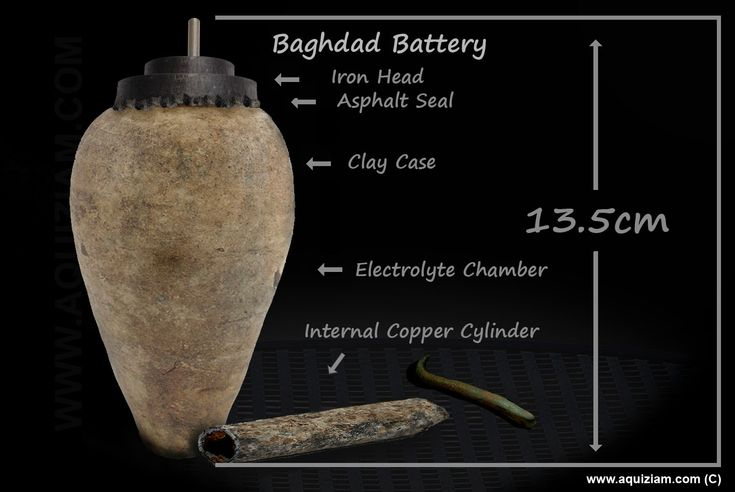 Baghdad Battery - Large Scale - Dimensions