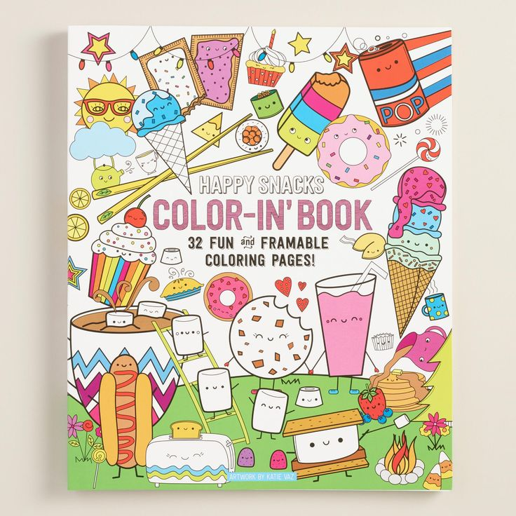 Breakfast, lunch and dinner dance cheerfully across the page in this tasty coloring book. With an o-ring binding that allows it to lie flat for coloring and one-sided, perforated pages for easy removal and no color bleeding, this colorin' book lets you show off your best work.