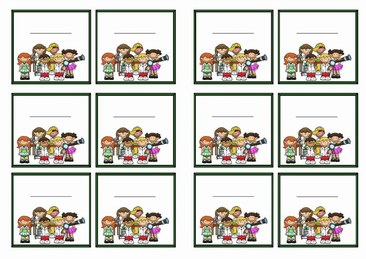 Science Tags: FREE Printable Science Themed Name Tags