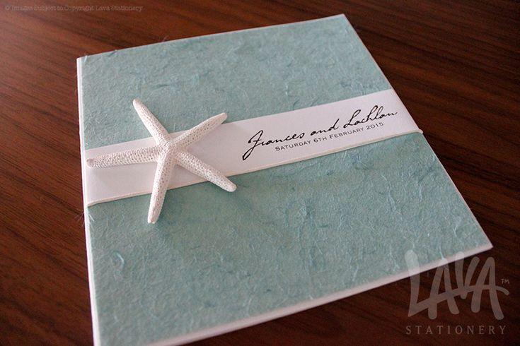 Starfish wedding invitation by www.lavastationery.com.au