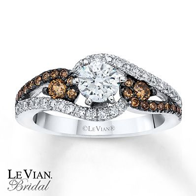 Le Vian Chocolate Diamond Rings | Kay - Le Vian Engagement Ring Chocolate Diamonds 14K Vanilla Gold