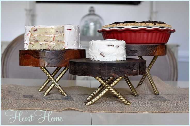 diy rustic wood pedestals, diy, home decor, how to, repurposing upcycling, woodworking projects, the food safe mineral oil means I can use them with food