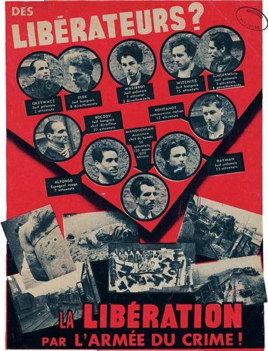 """Primul film  dedicat """"grupului Manuchian"""" a fost realizat la mijlocul anilor 70 şi a stîrnit nenumărate controverse. Cauza – a deschis răni necicatrizate. Au reapărut din uitare foşti membri ai Rezistenţei, rudele victimelor, jurnalişti, istorici ai Franţei din timpul regimului de la Vichy, memorialişti ai Ocupaţiei germane. A fost un subiect de presă extrem de fierbinte. Franţei i-a trebuit mai mult de o generaţie ca să poată discuta liber despre aceste chestiuni dureroase care – de altfel…"""