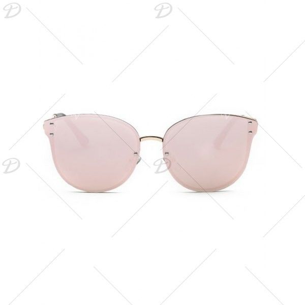 Stylish Pink Frameless Mirrored Sunglasses (9.81 CAD) ❤ liked on Polyvore featuring accessories, eyewear and sunglasses