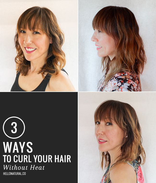 ways to style hair without heat 3 ways to get boho waves without heat easy hair ideas 1338