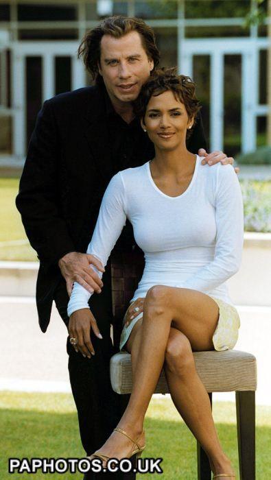 John Travolta w/ Swordfish costar Halle Berry