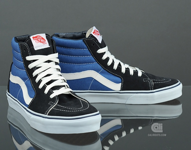 vans sk8-hi blue/white