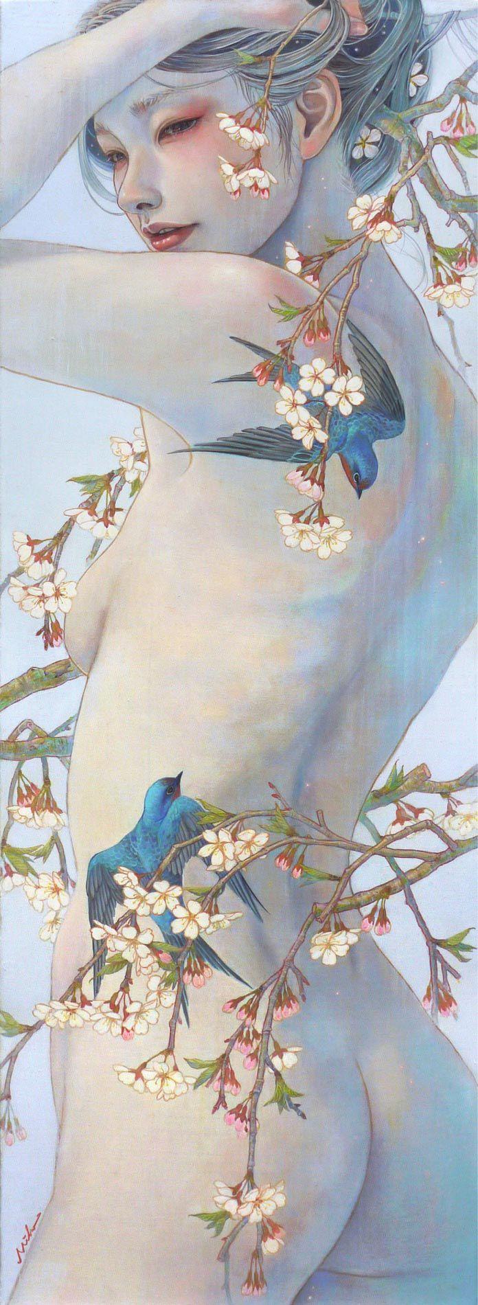 Exposer la sensualité féminine, de nombreux artistes offrent leur talent à cet art délicat. L'artiste japonaise Miho Hirano a ainsi voué sa vie et l'ensemble de son œuvre à représenter des personnages féminins qui évoluent en fusion avec les éléments de la nature. Regard sur ce travail de qualité.   Miho Hirano a obtenu son diplôme d'art à l'Université d'Art Musashino près de Tokyo, en 2008. Sa carrière professionnelle s'est rapidement envolée quand elle a dévoilé cett...