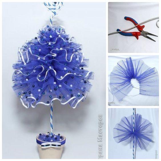 Creative Ideas - DIY Tulle Christmas Tree | iCreativeIdeas.com Follow Us on Facebook --> https://www.facebook.com/iCreativeIdeas