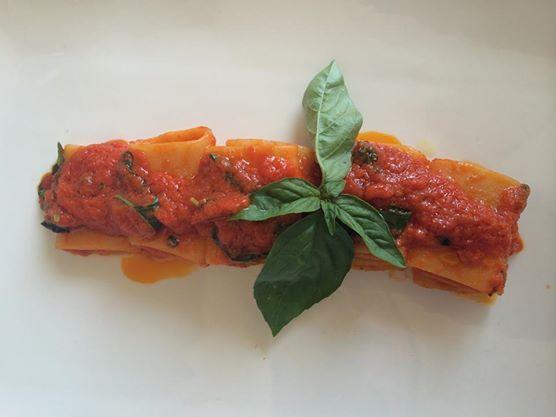 """Paccheri al sugo """"speciale"""" di pomodoro  #liberty #grancaffeliberty #asola #mantova #food #italy #italia #mare #pesce #ristotrante #restaurant"""