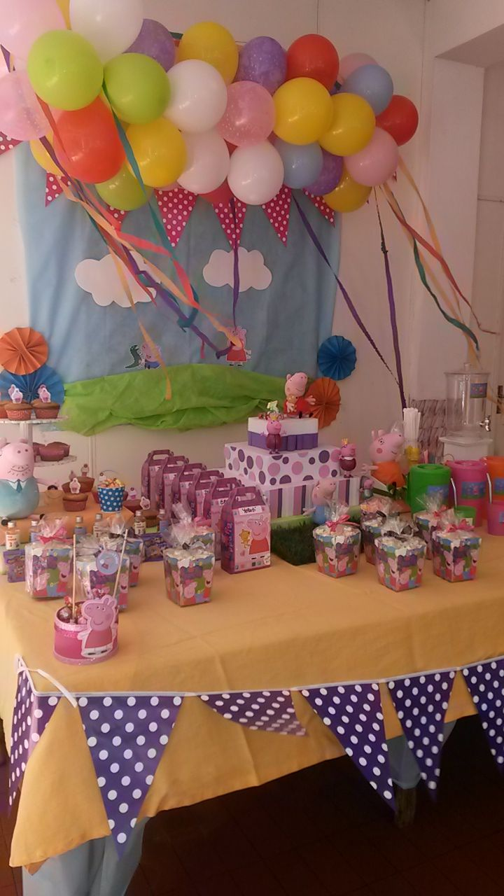 Peppa Pig deco for 3th birthday´s party
