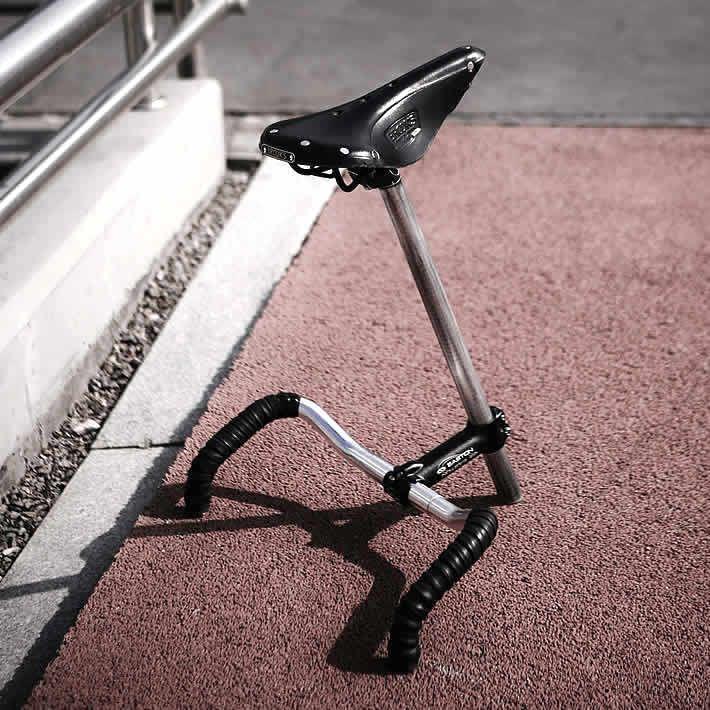 SELLA CHAIR: bicycle parts stool by Taemin Kim – upcycleDZINE | upcycledzine.com…