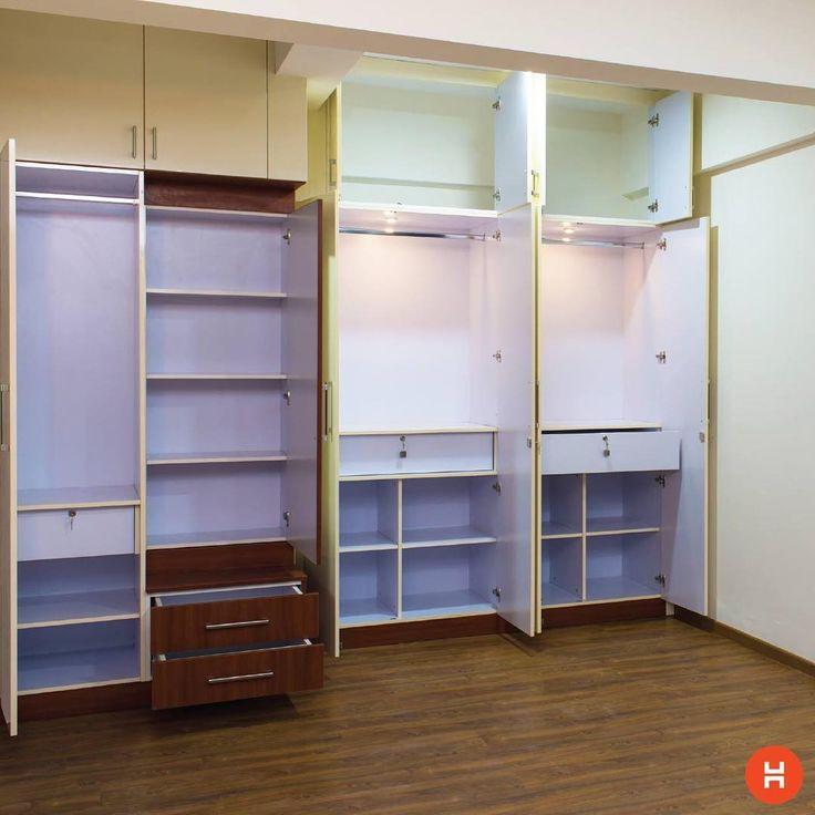 A lot of shelves help you organize your closet better! #Closet #bedroom #homeinteriors #homesweethome