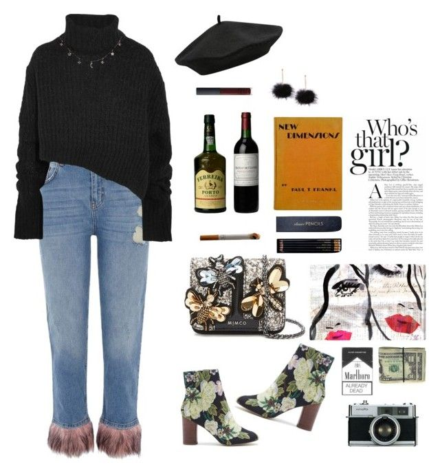 """""""Who's that girl?"""" by oliviiiias on Polyvore featuring River Island, Ann Demeulemeester, Sole Society, M&Co, NARS Cosmetics, Sloane Stationery, Oliver Gal Artist Co. and Luna Skye"""