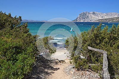 Sardinia.Capo Coda Cavallo extends in a stretch of sea sheltered from the island of Tavolara and from the islet of Proratora, inlets and coves, from Capo Ceraso to Punta s`Isuledda, where the southernmost is located between the beautiful beaches of San Teodoro .