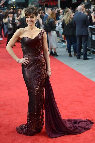 Carla Gugino in Georges Chakra Couture at the 'San Andreas' London Premiere