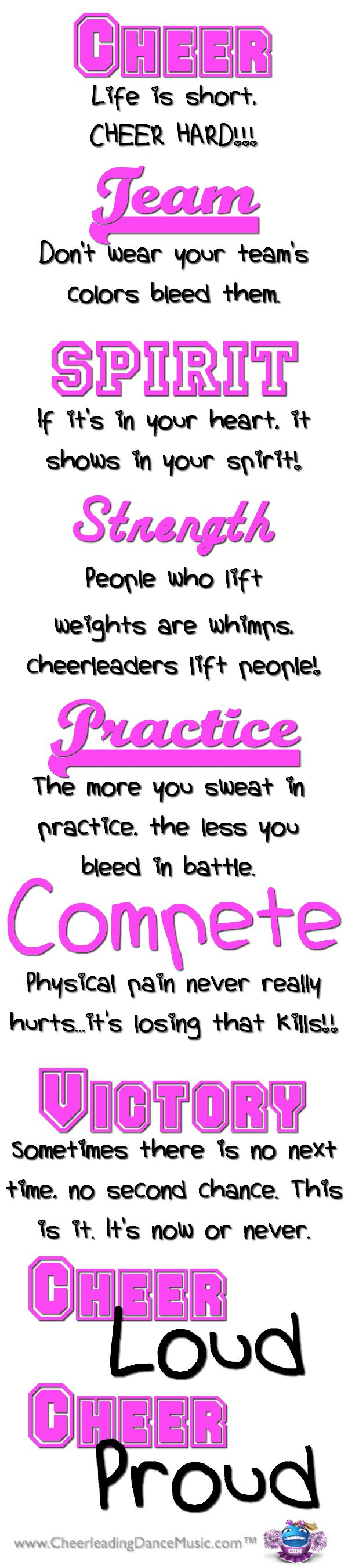 Cheerleading <3 Cheer Loud ~ Cheer Proud!
