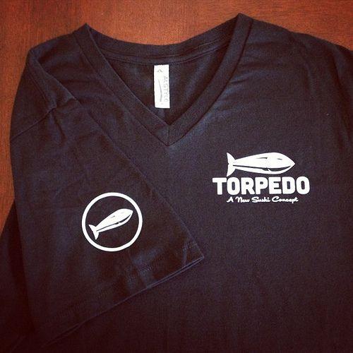 While everyone is wearing regular t-shirts, we have v-necks! #sushi #restaurant #fashion #uniform