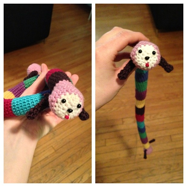 Noby noby boy crochet  Made by me! I didn't used a pattern, but I was looking at pictures often to make sure I was doing the right thing :)