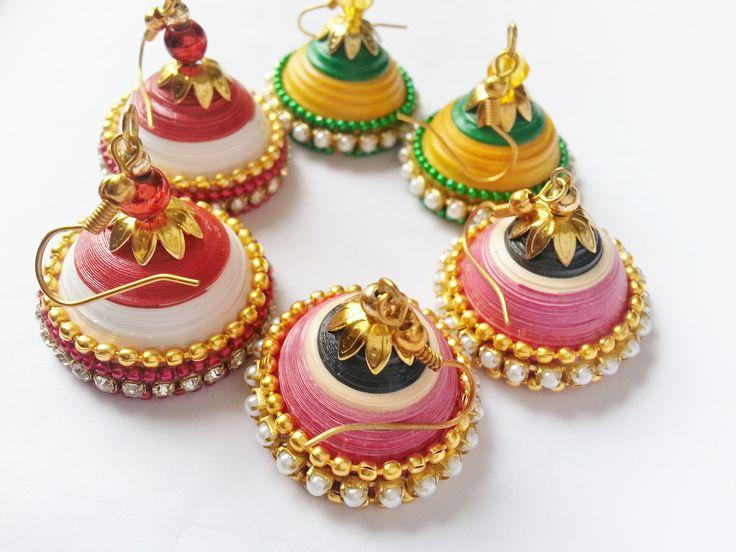 Wedding jhumka collections - Bridal jhumka  https://www.facebook.com/Arhamscreations