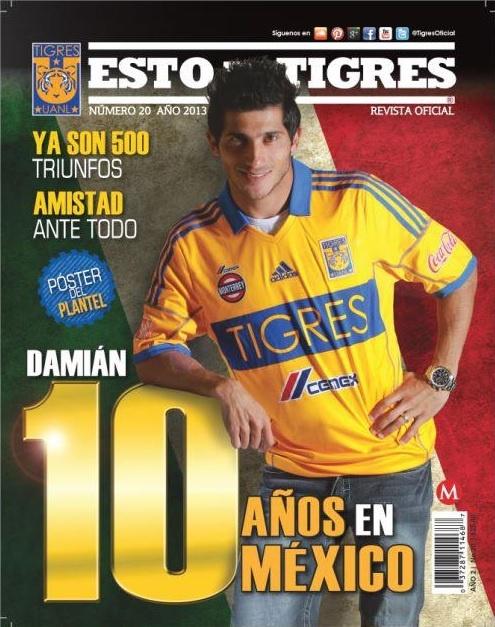 """Damián Álvarez en la revista """"Esto es Tigres""""."""