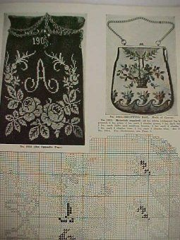 Beaded+Handbags+Patterns   Vintage Beaded Bag Purse Pattern Book Sophie La Croix Victorian ...