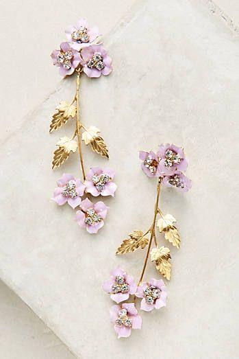 Painted Lilac Drop Earrings