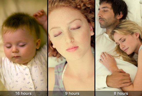 How Much Sleep Is Enough?  Sleep needs vary widely from person to person, but general guidelines are:  16 hours for infants  9 hours for teenagers  7-8 hours for adults  Keep in mind that some adults do fine with 5 hours of sleep and others need as many as 10 hours per night.