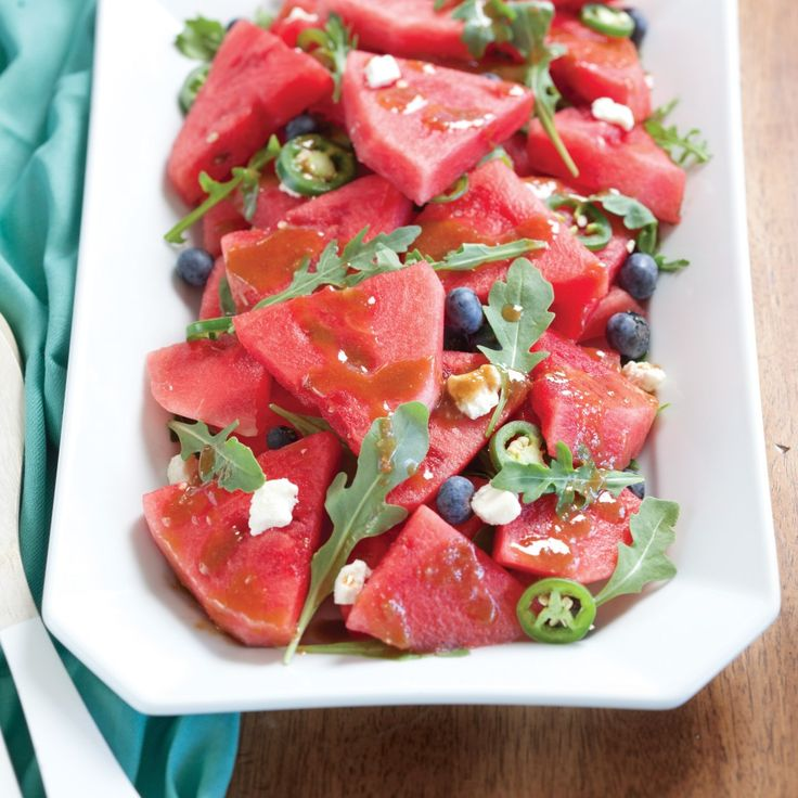 Watermelon Arugula Salad recipe - Celebrate Magazine