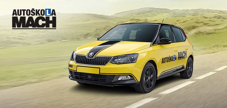 New design, logo and wrap of Skoda Fabia for Autoškola Mach driving school