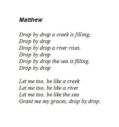 4th Grade: Pedagogical Verses
