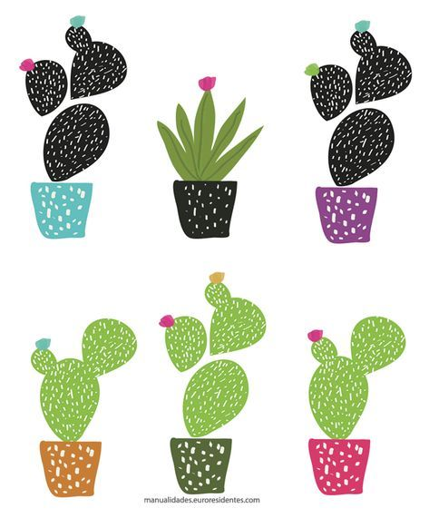 Dibujos de Cactus para imprimir | Imprimibles gratis | Pinterest ...